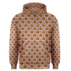 Scales2 White Marble & Rusted Metal Men s Pullover Hoodie