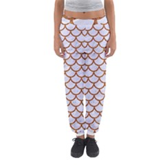 Scales1 White Marble & Rusted Metal (r) Women s Jogger Sweatpants