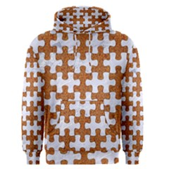 Puzzle1 White Marble & Rusted Metal Men s Pullover Hoodie