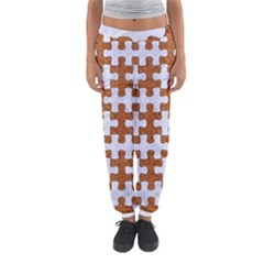 Puzzle1 White Marble & Rusted Metal Women s Jogger Sweatpants