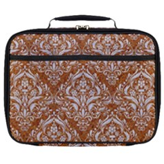 Damask1 White Marble & Rusted Metal Full Print Lunch Bag