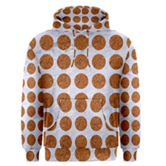Circles1 White Marble & Rusted Metal (r) Men s Pullover Hoodie