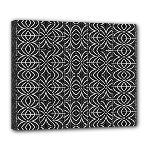 Black And White Tribal Print Deluxe Canvas 24  X 20
