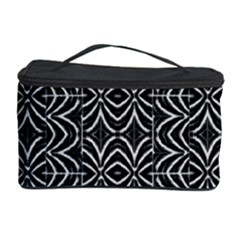 Black And White Tribal Print Cosmetic Storage Case