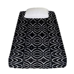 Black And White Tribal Print Fitted Sheet (single Size)
