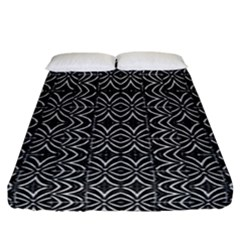 Black And White Tribal Print Fitted Sheet (california King Size)