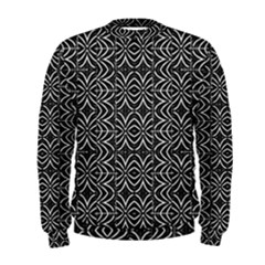 Black And White Tribal Print Men s Sweatshirt