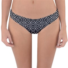 Black And White Tribal Print Reversible Hipster Bikini Bottoms