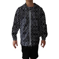 Black And White Tribal Print Hooded Wind Breaker (kids)