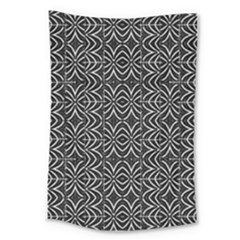 Black And White Tribal Print Large Tapestry