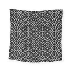 Black And White Tribal Print Square Tapestry (small)