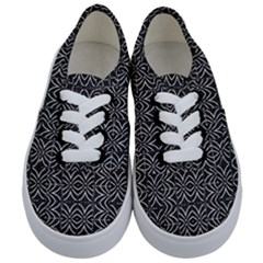 Black And White Tribal Print Kids  Classic Low Top Sneakers