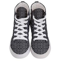 Black And White Tribal Print Men s Hi Top Skate Sneakers