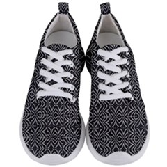 Black And White Tribal Print Men s Lightweight Sports Shoes
