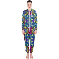 Artwork By Patrick Pattern 23 Hooded Jumpsuit (ladies)