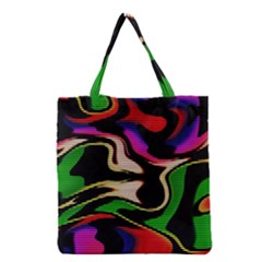 Hot Abstraction With Lines 1 Grocery Tote Bag