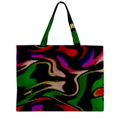 Hot Abstraction With Lines 1 Zipper Mini Tote Bag