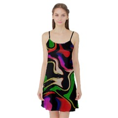Hot Abstraction With Lines 1 Satin Night Slip