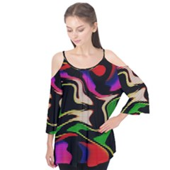 Hot Abstraction With Lines 1 Flutter Tees