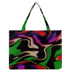 Hot Abstraction With Lines 1 Zipper Medium Tote Bag