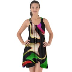 Hot Abstraction With Lines 1 Show Some Back Chiffon Dress