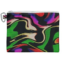 Hot Abstraction With Lines 1 Canvas Cosmetic Bag (xxl)