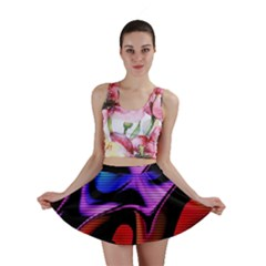 Hot Abstraction With Lines 2 Mini Skirt