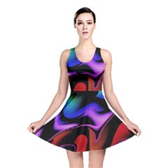 Hot Abstraction With Lines 2 Reversible Skater Dress