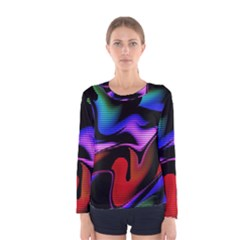 Hot Abstraction With Lines 2 Women s Long Sleeve Tee