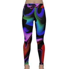 Hot Abstraction With Lines 2 Classic Yoga Leggings