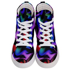 Hot Abstraction With Lines 2 Men s Hi Top Skate Sneakers