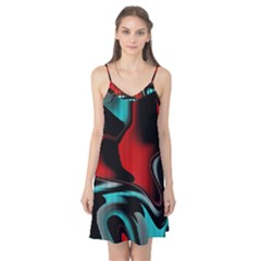 Hot Abstraction With Lines 3 Camis Nightgown