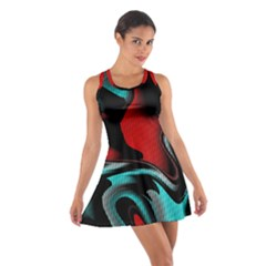 Hot Abstraction With Lines 3 Cotton Racerback Dress