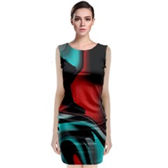 Hot Abstraction With Lines 3 Classic Sleeveless Midi Dress