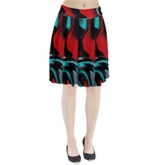 Hot Abstraction With Lines 3 Pleated Skirt