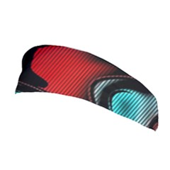 Hot Abstraction With Lines 3 Stretchable Headband