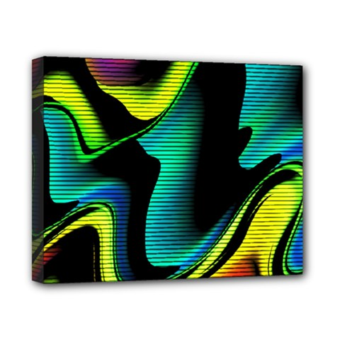 Hot Abstraction With Lines 4 Canvas 10  X 8