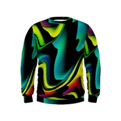 Hot Abstraction With Lines 4 Kids  Sweatshirt