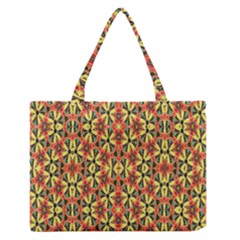 Pattern 25 Zipper Medium Tote Bag