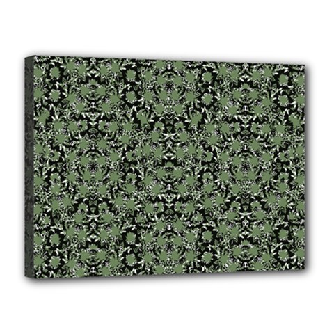 Camouflage Ornate Pattern Canvas 16  X 12