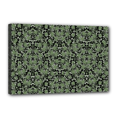 Camouflage Ornate Pattern Canvas 18  X 12