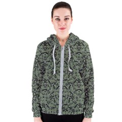 Camouflage Ornate Pattern Women s Zipper Hoodie