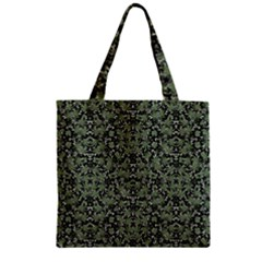 Camouflage Ornate Pattern Zipper Grocery Tote Bag