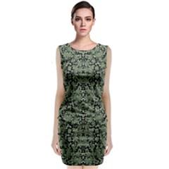 Camouflage Ornate Pattern Classic Sleeveless Midi Dress