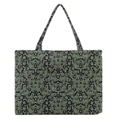 Camouflage Ornate Pattern Zipper Medium Tote Bag