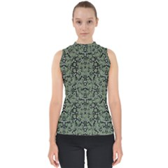 Camouflage Ornate Pattern Shell Top