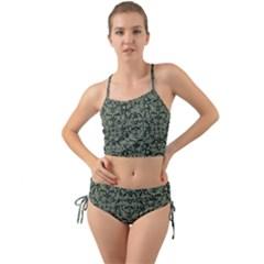 Camouflage Ornate Pattern Mini Tank Bikini Set