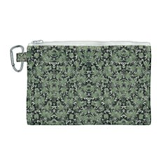 Camouflage Ornate Pattern Canvas Cosmetic Bag (large)