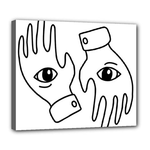 Hands Deluxe Canvas 24  X 20