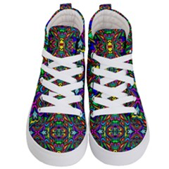 Artwork By Patrick Pattern 31 Kid s Hi Top Skate Sneakers
